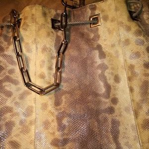 Gucci snakeskin bag
